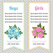 Two Vertical Invitations For Boys And Girls