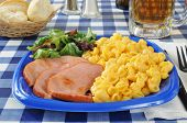 Grilled Ham With Macaroni And Cheese