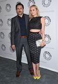 LOS ANGELES - JUN 24:  Demian Bichir &  Diane Kruger arrives to the The Bridge
