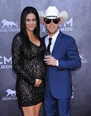 LOS ANGELES - APR 06:  Justin Moore arrives to the 49th Annual Academy of Country Music Awards   on