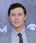 LOS ANGELES - APR 06:  Scotty McCreery arrives to the 49th Annual Academy of Country Music Awards
