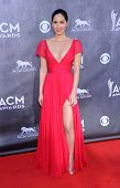 LOS ANGELES - APR 06:  Olivia Munn arrives to the 49th Annual Academy of Country Music Awards   on A