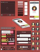 ui for phone 3d in flat style design