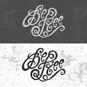 Be Free hand lettering