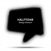 Bubble Halftone Design Element