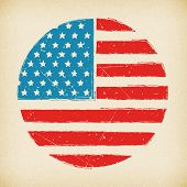 American Grunge Vector Flag Background Poster