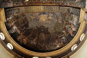PARMA, ITALY - MAY 01, 2014: Fresco in Basilica Santa Maria della Steccata. Basilica is a Marian shrine made ??in Parma between 1521 and 1539 and in 2008 elevated to the rank of minor basilica
