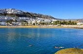 PUERTO RICO, SPAIN - OCTOBER 14: View of Puerto Rico beach on October 14, 2013 in Gran Canaria, Cana