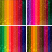 Set of four colourful line background