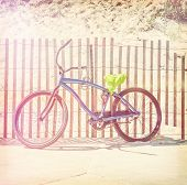 Bicycle parked along the beach