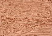 Orange Rough Plaster On Wall Closeup