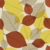 Seamless autumn fall leaves pattern