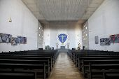 GEMUNDEN, GERMANY - JULY 18: Church of the Holy Trinity on July 18, 2013 in the Bavarian village of