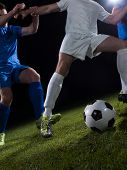 soccer football team  player game duel isolated on black background