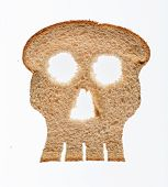 Slice Of Wholewheat Bread In Shape Of Skull