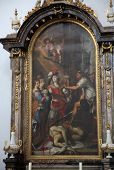 WURZBURG, GERMANY - JULY 18, 2013: The Beheading of St John the Baptist, Neumunster Collegiate Churc
