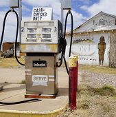 An Old Palominas Trading Post Gas Pump