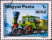 Postage Stamp Shows Locomotive