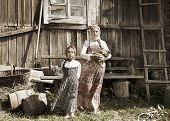 Photo Of Sisters In Farm