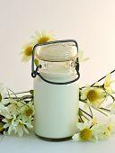 foto of milkman  - American vintage milk bottle on a white background - JPG