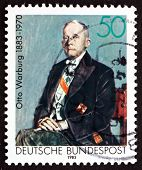 Postage Stamp Germany 1983 Otto Warburg, Nobel Laureate
