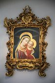 WURZBURG, GERMANY - JULY 18: Madonna with Child, St. Augustine's Church is a Catholic church in Wurz
