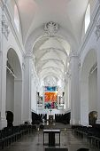 WURZBURG, GERMANY - JULY 18: St. Augustine's Church is a Catholic church in Wurzburg. The monastery