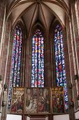 WURZBURG, GERMANY - JULY 18: The Our Lady Chapel in Wurzburg is a gothic church building on the Lowe