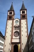 WURZBURG, GERMANY - JULY 18, 2013: Wurzburg Cathedral dedicated to St Kilian is the fourth largest R