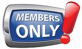 members only vector icon restricted area membership required