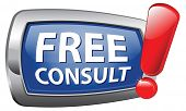 free consult vector icon with support desk or help desk with gratis consultation and customer suppor