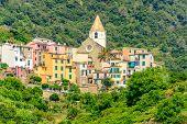 Beautiful town Corniglia in Cinque Terre, Italy