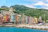 Beautiful Ligurian coast of Italy .Portovenere. Cinque Terre.