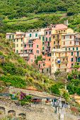 Beautiful town Manarola in Cinque Terre, Italy.