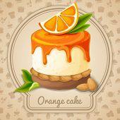 Orange cake emblem