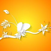 Abstract flowers bright background. Vector design