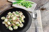 Gnocchi Pasta With Ham, Spring Onion