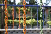 Colorful Chains In Playpen
