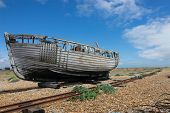 forgotten fishing boat at Dungeness.