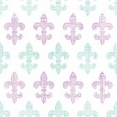 Abstract textile fleur de lis stripes seamless pattern background