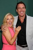 LOS ANGELES - JUL 8:  Kym Douglas, Mark Steines at the Crown Media Networks July 2014 TCA Party at t
