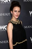 LOS ANGELES - JUL 9:  Rachel Brosnahan at the WGN Series Manhattan Photo Op July 2014 TCA at the Bev