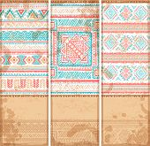 Vintage ethnic set of banners