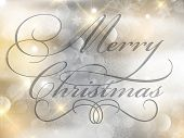 Christmas background with decorative writing