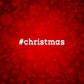 picture of hashtag  - Christmas snowflake background with hashtag - JPG