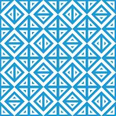 Geometric Abstract Blue And White Pattern Vector Seamless Texture