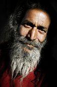 Indigenous senior Indian man looking at the camera.