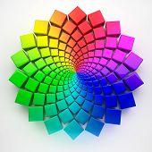 Circular Spectrum Pattern 3D