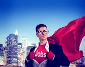 Jobs Strong Superhero Success Professional Empowerment Stock Concept