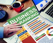 Business Ranking Working Calculating Thinking Planning Paperwork Concept